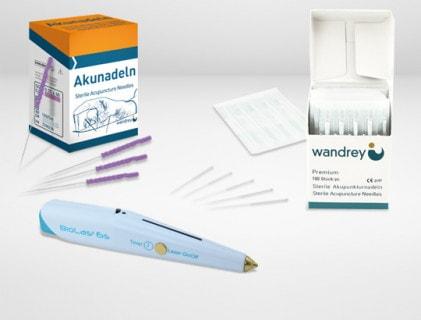 Agujas de acupuntura y accesorios