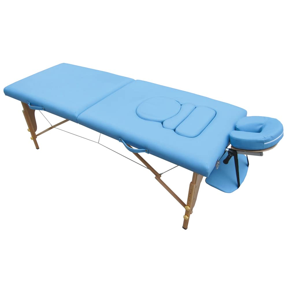 Lettino Massaggio Groupon.Lettino Per Massaggi Portatile Per Donne Incinte Azzurro