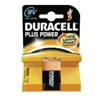 9 Volt alkaline battery, disposable