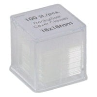 Glass Slide Covers, 100 pieces