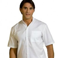 Doctor's Shirt with Stand-up Collar