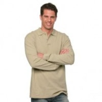 Men's Long Sleeved Piqué Poloshirt
