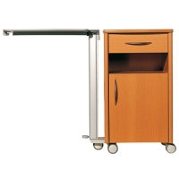 Bedside Cabinet «Atlas», High Version with Castors