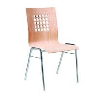 Wooden shelled stacking chair