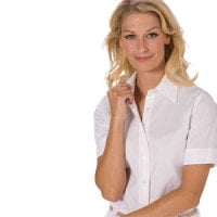 Short-sleeved womans's blouse