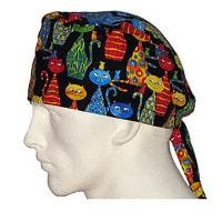 Surgical cap in bandana design