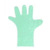 Polyethylene Gloves, Green
