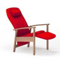 Sedia reclinabile in legno «Talo Classic»