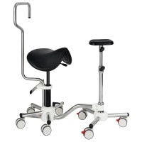 Combo Unit with Saddle Stool & Leg Rest