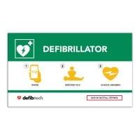 Emergency Defibrillator Sign