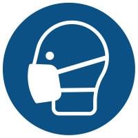 Znak: Nakaz stosowania maski ochronnej