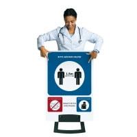 Figur-Aufsteller mit Hygienehinweisen