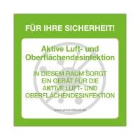 Naklejka «Aktive Luft- und Oberflächendesinfektion»