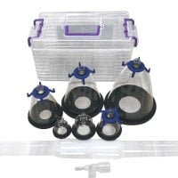 Anaesthesia Mask Set with 6 Sizes and Transport Box