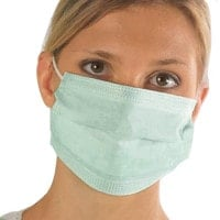 Surgical Mask with Elastic Ear Loops, 3-ply