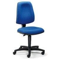 Office rotary stool with inter vertebral discs protection
