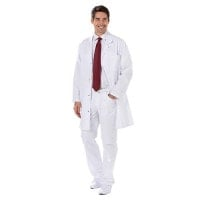 Men's white coat