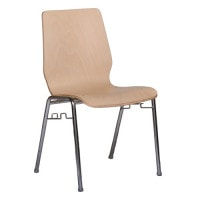 Stackable moulded ply chair