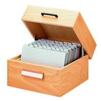 Caisse de fichier en bois