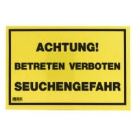 German Warning Sign «Seuchengefahr»
