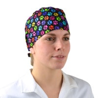 Surgical cap in bandana design