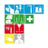 Serie pictogrammen «noodgeneeskunde»