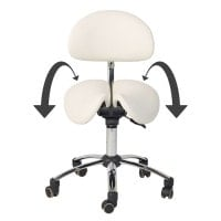 Saddle Stool with Backrest