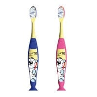 Children's toothbrushes with suction cup