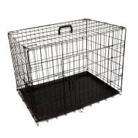 Folding Animal Cage, black