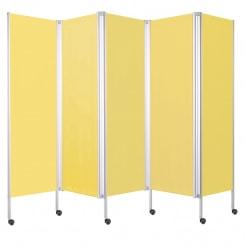 leichter paravent mit rollen 5 gelb praxisdienst. Black Bedroom Furniture Sets. Home Design Ideas