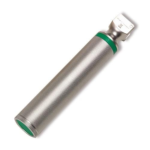 Metallic battery handle