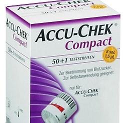 Cartouches de bandelettes de test Accu-Chek Compact Plus