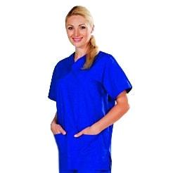 OP-Hemd für Damen und Herren, blau