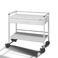 Wider multipurpose trolley with 1 drawer