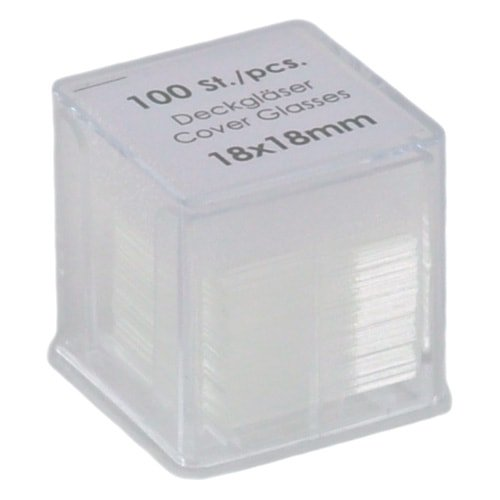Cover slips , 18 x 18 mm, 100 pieces