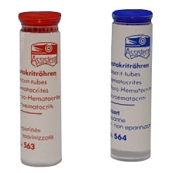 Haematocrite -capillaries, not heparinised
