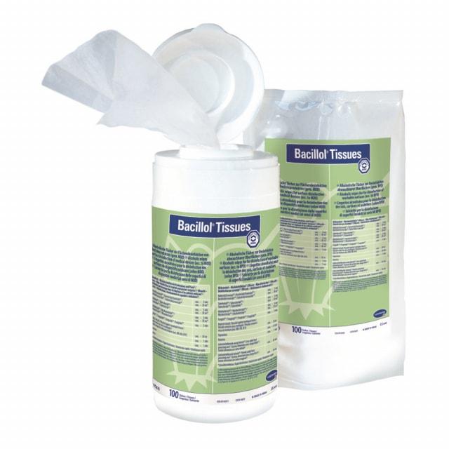 Bacillol wipes en caja dispensadora de toallitas