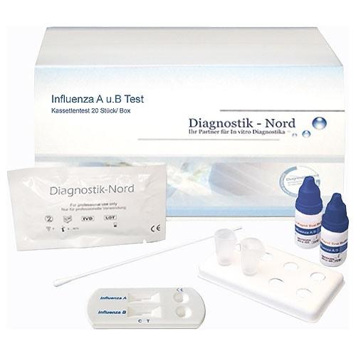 Influenza A/B, test rapide, 20 pièces