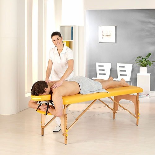 Massage table in saving pack