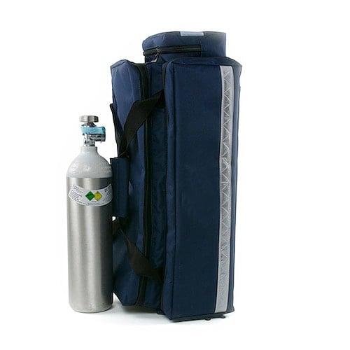 Sistema de oxígeno con la botella de acero ligero y regulador de presión