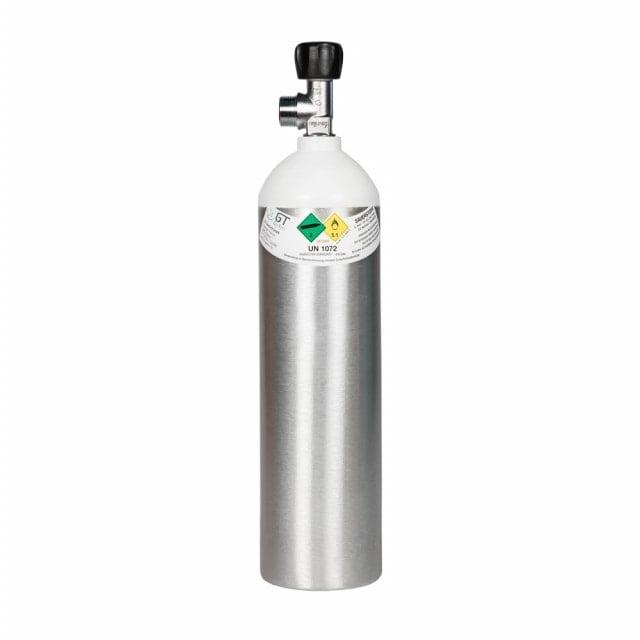 Bombola per ossigeno in alluminio da 1,8 litri, piena