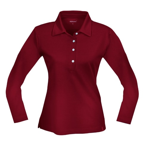 Buttoned-up T-shirt with long sleeves