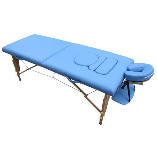 Movable massage table for women