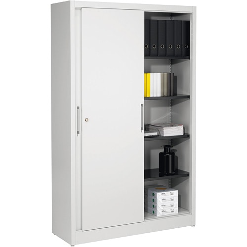 Metallic cupboard with sliding doors
