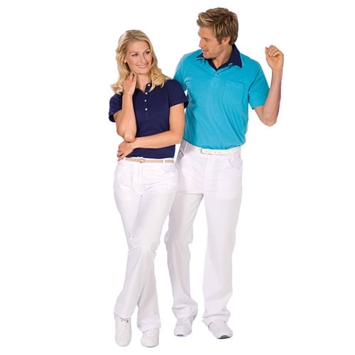 Men's trousers with shaped waistband