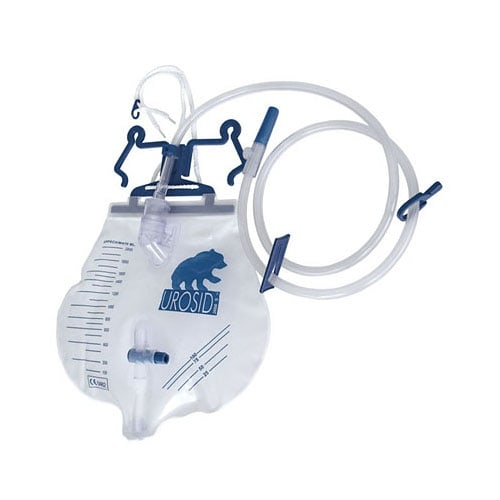 Urosid 2000S sistema de drenaje urinario con válvula transversal vertical