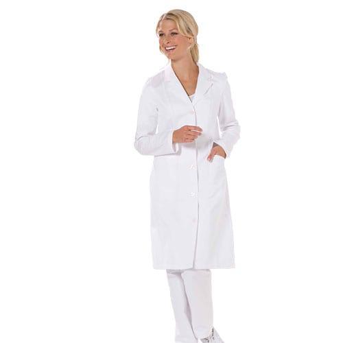Damen-Arztmantel mit Knopfleiste