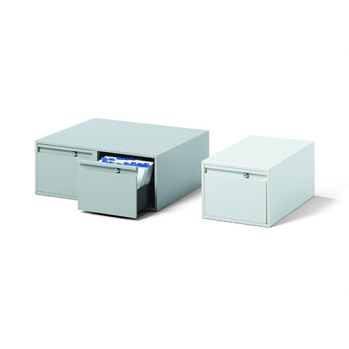 Steel Filing Box DIN A5, 2 pull-out drawers
