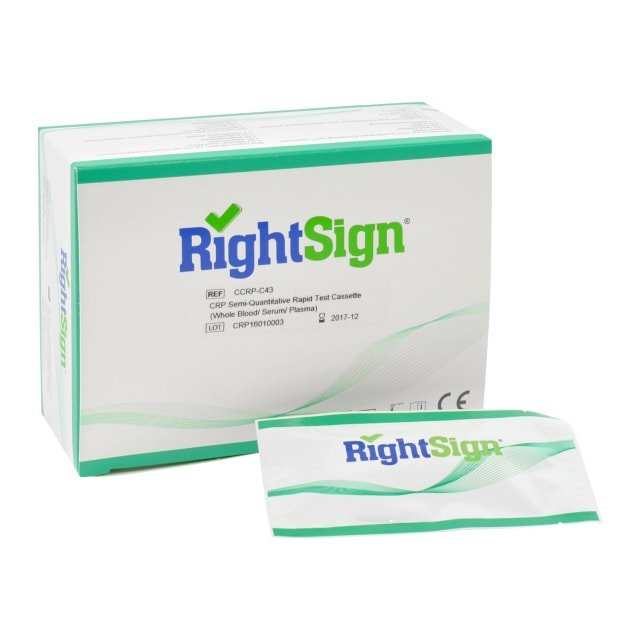Right Sign semi-quantitativer CRP-Test, 25 Stück