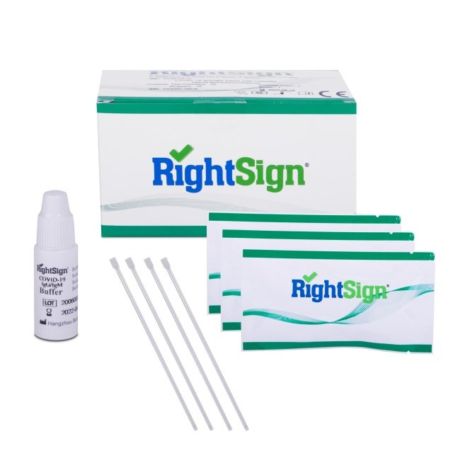 Coronavirus Rapid Test, Right Sign